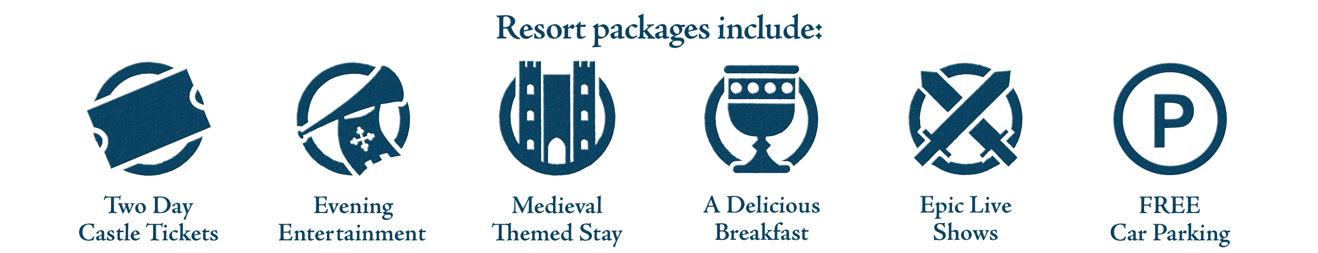 Warwick Castle packages include: Medieval themed stay, breakfast, evening entertainment, free parking, 2nd Day FREE Castle tickets