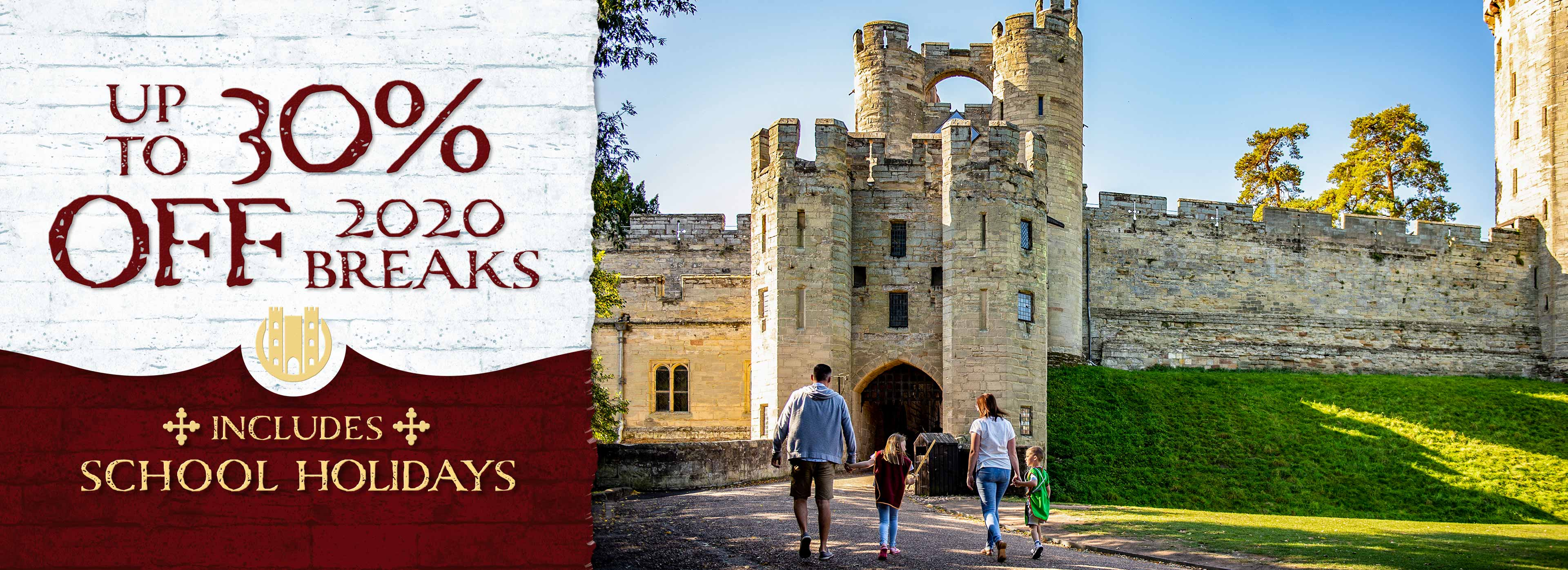 Save up to 30% on 2020 breaks at Warwick Castle